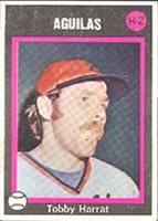 1973 Made in Venezuela Stickers (Baseball) Card# 267 tobby harrah h-z of the Zulia Ex Condition