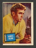 Original 1957 James Dean Topps Hit Stars Trading Card Rebel Without Cause