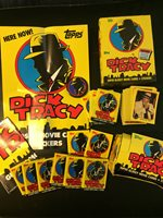 Topps DICK TRACY Movie Cards EMPTY Box Poster Button Wrapper Collectible LOT!