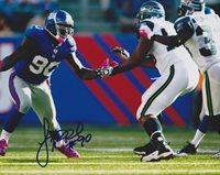 Jason Pierre-Paul Autographed / Hand Signed New York Giants 8x10 Photo - XLVI Super Bowl champion