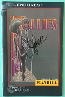 Jenny Powers (only) Signed Follies Playbill Encores! Donna Murphy Victor Garber