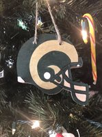 Colorado State Rams Handmade Wooden Ornament