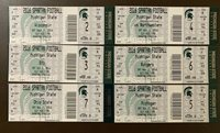 Michigan State Spartans 2016 NCAA football ticket stubs- ONE TICKET- SEE LISTING