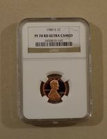 1989 S 1c LINCOLN MEMORIAL CENT PENNY NGC PF70 RD ULTRA CAMEO