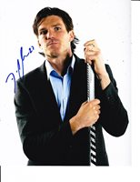 COLUMBUS BLUE JACKETS DAVID CLARKSON SIGNED IN SUIT 8X10