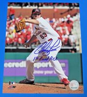 CHRIS PEREZ SIGNED 8x10 PHOTO ~ CLEVELAND INDIANS ~ Insc 1st Round Pick