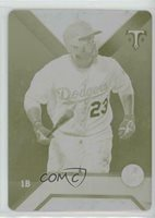 2016 Topps Triple Threads Printing Plate Yellow 1/1 Adrian Gonzalez #71