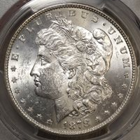 1878 Morgan Dollar, 7 over 8 Tailfeathers, VAM 41A