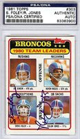 Steve Foley and Rulon Jones Autographed Signed 1981 Topps Card - PSA/DNA CertifiedCUSTOM FRAME YOUR JERSEY
