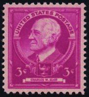 Scott 871, SUPERB NH, PSE Cert, Grade 98, 1940 3c Eliot