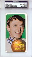 Rod Thorn Signed 1970 Topps Rookie Card #167 - PSA/DNA Authenticated - NCAA College Football Cards