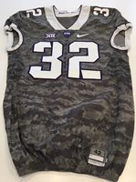 on sale 91519 1c0d4 Game Worn Used Nike TCU Horned Frogs Football Jersey #3