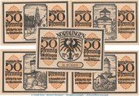 5 x Notgeld Nördlingen gelbbraun kompl Seriennotgeld Germany Notgeld Stadt Nördlingen 978 10 , Set mit 5 Scheinen --gelbbraun-- in kfr 1918 P