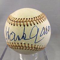 Incredible Hank Aaron Signed 4/4/1974 714th Home Run Game Used Baseball JSA COA