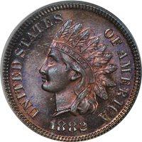 1882 1C Indian Cent PCGS PR65BN (PHOTO SEAL)