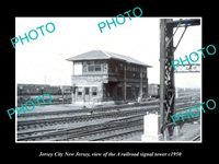 8x6 HISTORIC PHOTO OF JERSEY CITY NEW JERSEY THE A RAILROAD SIGNAL TOWER c1950