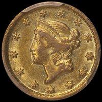 $1.00 - 1849-D PCGS AU50 — Douglas Winter Numismatics