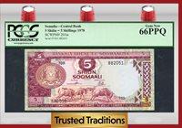 5 Shilin 1978 Somalia =5 Shillings Gnus And Zebra Pcgs 66 Ppq Gem!