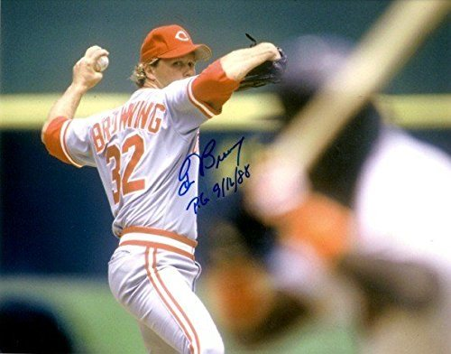 Autographed Signed Tom Browning 8x10 Photo Cincinnati Reds Certified Authentic