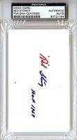 Red Storey Signed 3x5 Index Card - PSA/DNA Authenticated - NHL Hockey Merchandise