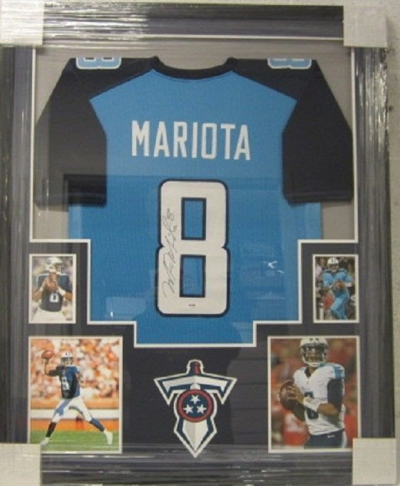 the best attitude 68899 763e5 Marcus Mariota Tennessee Titans Autographed Signed Framed Football Jersey  Memorabilia - PSA/DNA AuthenticCUSTOM FRAME YOUR JERSEY