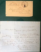 Rufus Choate Autographed Letter 1853 U.S. Legal History