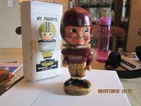1968 Washington Redskins rare Bobblehead with box bobbler