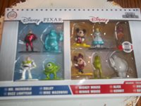 10 Metalfigs Walt Disney Pixar Pack Mini Diecast Metal Figure Mickey Kermit NEW