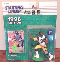 2000  ISAAC BRUCE Louis Rams St Starting Lineup Card EXTENDED