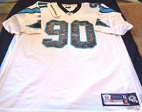 new concept 860f7 99457 Julius Peppers #90 Carolina Panthers Jersey size XL Adult Reebok Authentic  NFL