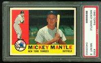 1960 Topps MICKEY MANTLE New York Yankees PSA 8