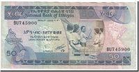 50 Birr 1991 Äthiopien Banknote, Undated, Km:44b