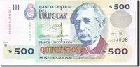 500 Pesos Uruguayos 1999 Uruguay Banknote, Undated, Km:82