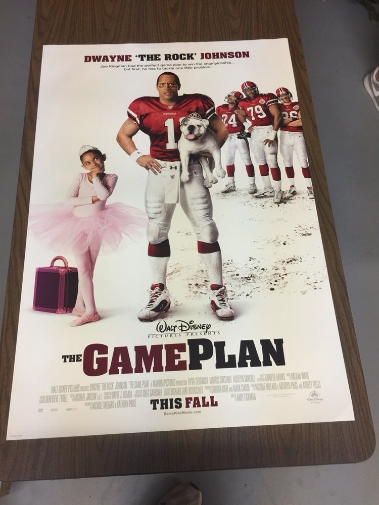 The Game Plan 27x40 Original Ds Movie Poster The Rock