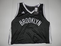 Adidas NBA Revolution 30 Brooklyn Nets Black Authentic Blank Jersey Medium  +2 a3db42a44