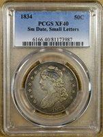 1834 O-111 PCGS XF40 Bust Half Dollar