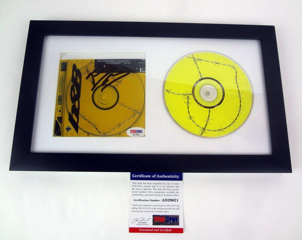 Post Malone Beerbongs & Bentleys Signed Autograph CD Framed PSA/DNA COA C