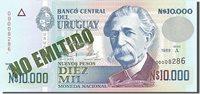 10,000 Nuevos Pesos 1989 Uruguay Banknote