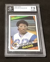 1984 TOPPS Eric Dickerson RC BGS 7.5 RAMS NFL HOF ROOKIE CARD W/ 9 Centering