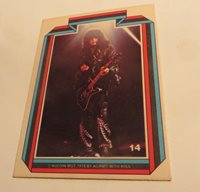 1978 KISS ROCK CARD #14 PAUL STANLEY PUZZLE CARD FREE SHIPPING CANADA USA