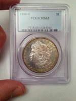 1880-S Morgan Silver Dollar - PCGS MS 63 (Better Coin, Solid Proof-Like Obverse)