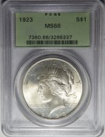 1923 PCGS MS66 PEACE DOLLAR
