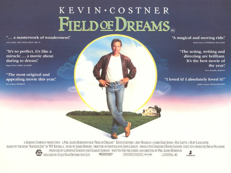 Field Of Dreams movie poster - Kevin Costner poster - 1
