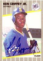 Ken Griffey Jr. Autographed 1989 Fleer Rookie Card #548 Seattle Mariners Vintage Rookie Era Signature PSA/DNA #F17410Ken Griffey Jr. Autographed 1989 Fleer Rookie Card #548 Seattle Mariners Vintage Rookie Era Signature PSA/DNA #F17410