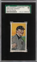 1909-11 T206 HOF Hughie Jennings One Hand Piedmont 350 Detroit SGC 60 / 5 EX