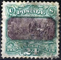 US Scott Number 120 24¢ 1869 Lightly cancelled Very Fine stamp Price $750 USD
