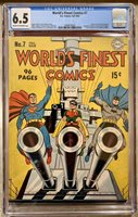World's Finest Comics #7 Comic Book Fall 1942 CGC D.C. Comics Superman Batman
