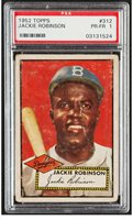 1952 Topps JACKIE ROBINSON Brooklyn Dodgers PSA 1 CENTERED