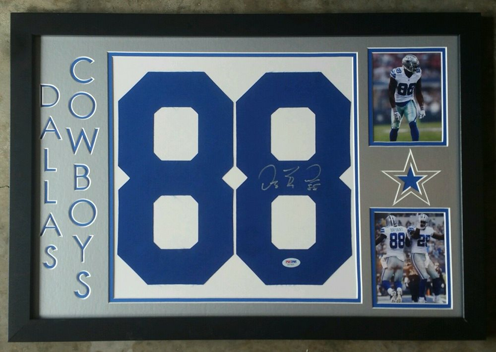 reputable site 44cc4 b92ab Dez Bryant Signed Autographed Jersey Number Dallas Cowboys Framed 16x24 PSA  DNA