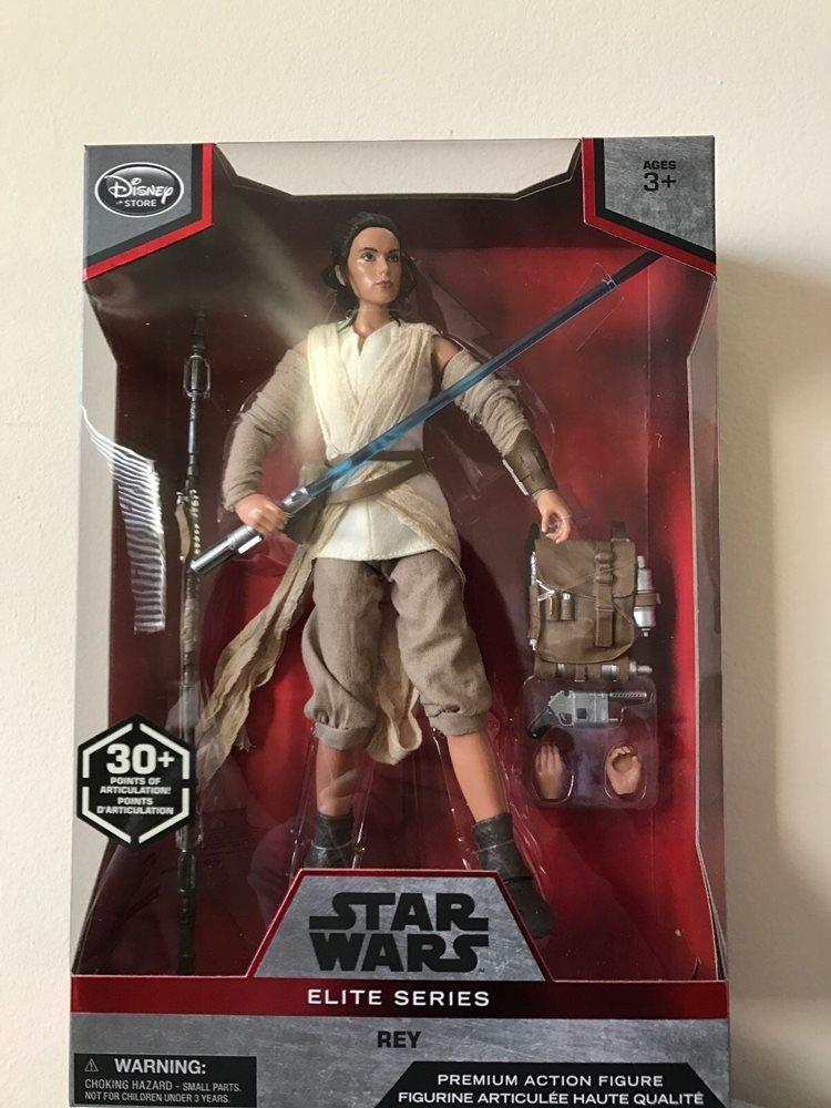 "Disney Star Wars Elite Series Force Awakens REY Premium Action Figure 10/"" New"